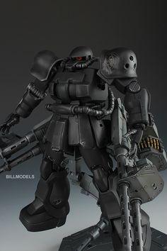 GUNDAM GUY: MG 1/100 Zaku F2 Heavy Machine Guns - Custom Build