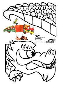 Dragon chinese new year Chinese New Year Crafts For Kids, Chinese New Year Dragon, Chinese New Year Activities, Chinese Crafts, New Years Activities, Art For Kids, New Year's Crafts, Diy Crafts For Kids, Dragon Puppet