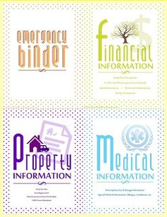 FREE PRINTABLE: Emergency Binder with instructions.  Finally an emergency binder printable that looks good!