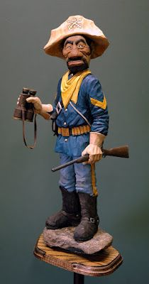 some cool woodcarving and tutorialsm - I need the gun blank or pattern for my Civil war guy I carved!