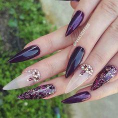 @nailsbyfabb #exclusive#stylish#elegant#classy#luxury#nails#glitternails#swarovskinails#pretty#beautiful#stilettonails#nailart#fashion#nailswag#girls#women#inspo