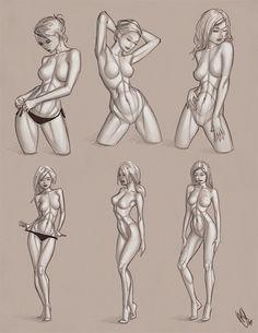 Drawing Aid. Девушки в векторном стиле от Warren Louw | Рисование в Фотошопе