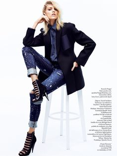 visual optimism; fashion editorials, shows, campaigns & more!: anja rubik by david vasiljevic for elle poland april 2014