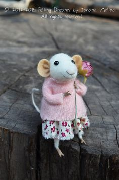 Meet Matilda the Little Coquet Mouse by feltingdreams. So happy she's coming to my house to live!