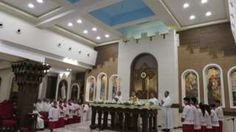 Mass being held at St Joseph's cathedral church in Erbil