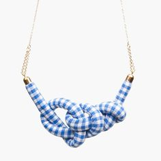 Gingham Rope Knot Necklace