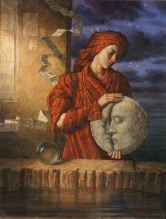 Painting,Drawing Down the Moon - Jake Baddeley Mechanical Horse, Drawing Down The Moon, Arte Judaica, Art Sculpture, Magic Realism, Visionary Art, Moon Art, Surreal Art, Stars And Moon