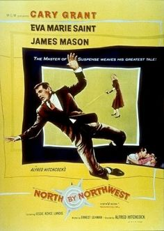 North by Northwest (1959)  Alfred Hitchcock, Ernest Lehman, Bernard Hermann, and Cary Grant--what a glorious quartet! Hitchcock winds up the 1950's with one of his best films of all, the lively, effervescent,  wonderful, perfect North by Northwest. A film often held up not only for its entertainment value, but one of the best examples of classical film-making!