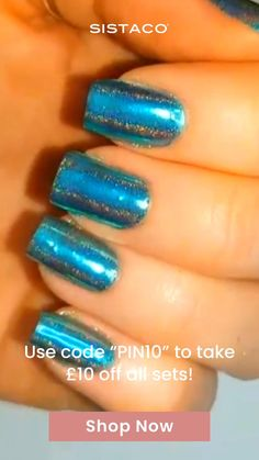 """⭐️⭐️⭐️⭐️⭐️ """"I love this method of having colour on my nails, the application is simple and mess-free. It took only 1 go to get the hang of it, beautiful nails ready to go in about 15 minutes."""" For a limited time you can take £10 off your first set with code """"PIN10""""! Money Chart, Types Of Nail Polish, Different Types Of Nails, Thanksgiving Nail Art, Funky Nails, Dream Nails, Powder Nails, Beauty Hacks, Beauty Tips"""