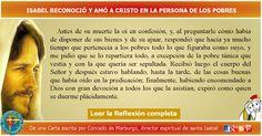 MISIONEROS DE LA PALABRA DIVINA: REFLEXIÓN - ISABEL RECONOCIÓ Y AMÓ A CRISTO EN LA ...