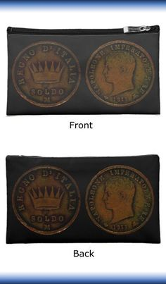 Cosmetic Bag with a Napoleon Coin as King of Italy 1813