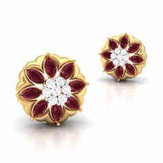 Flamboyant Diamond Earring