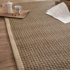 tapis jonc de mer tissage large avec ganse en coton essential - Jonc De Mer Chambre Avis