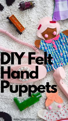 Easy Craft Projects, Projects For Kids, Sewing Projects, Diy Arts And Crafts, Felt Crafts, Diy Crafts, Hand Art Kids, Art For Kids, Grandchildren