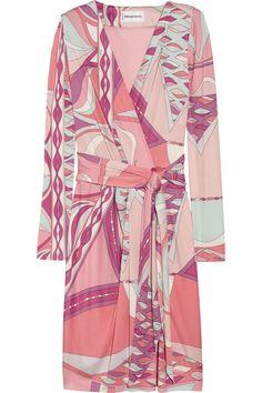 937d176667d3 Emilio Pucci Wrap-effect printed silk-jersey dress. Emilio Pucci s printed  silk-