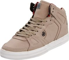 C1RCA Men's 99 Vulc Skate Shoe,Taupe/Red Black « Shoe Adds for your Closet