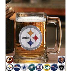 NFL Sports Team Fan Glass Mug Tankard