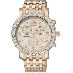 Citizen Watch, Women's Chronograph Drive from Citizen Eco-Drive Rose... ($236) ❤ liked on Polyvore