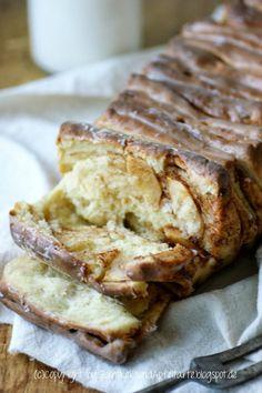 Apfel und Zimt - Pull-Apart-Bread Genau das richtige, wenn jetzt der Herbst kommt (oder schon da ist, in meinem Fall:-()