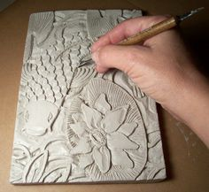 Clay slab lesson? Foreground, middle ground, background study or something... now, to get a kiln...