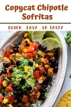 This Chipotle Sofritas Recipe (Copycat) is simple to make at home and tastes SO MUCH like the original! Great for leftovers too. Best Tofu Recipes, Vegan Recipes, Cooking Recipes, Cooking Ideas, Vegan Main Dishes, Vegan Lifestyle, Chipotle, Plant Based Recipes, Copycat