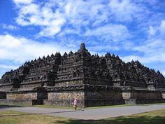 indonésio-templo de borobudur Vetor