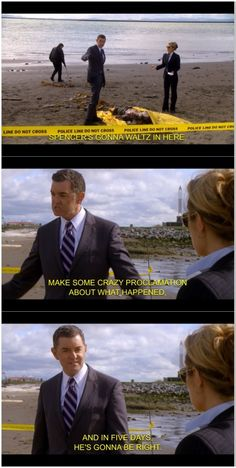 Pretty sure this is the one where he said that a dinosaur killed him<< no that body was found under some sort of pier, I remember wood supports around them in that scene Psych Memes, Psych Quotes, Psych Tv, Tv Show Quotes, Best Tv Shows, Best Shows Ever, Movies Showing, Movies And Tv Shows, Real Detective