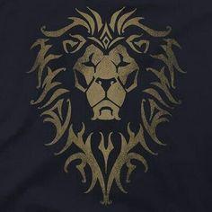 T-shirt Premium avec logo Warcraft Movie Alliance Body Art Tattoos, Animal Drawings, Drawings, Lion Logo, Warcraft, Lion Images, Art Logo, Lion Art, Art