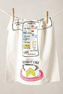 Recipe Tea Towel, Eggs Benedict