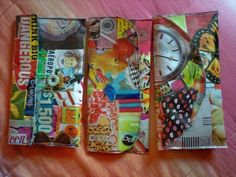 Collage Handbag  •  Free tutorial with pictures on how to make a paper clutch in under 120 minutes