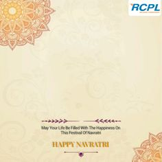 On the occasion of #Navratri, #RCPL team wishes everyone a very #HappyNavratri. May this festival fill your life with happiness and prosperity.