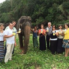 Sharing the campaign tract with an elephant handler in Thailand