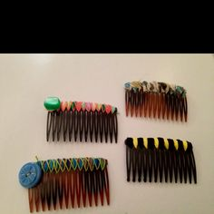 My attempt at the DIY hair comb :)