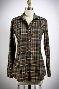 pockets!  Dredgers Union Plaid Flannel Shirt Tunic from The Dredgers Union