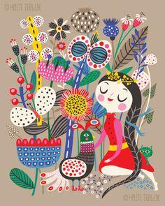 Fiona & Her Magic Garden ~ Helen Dardik