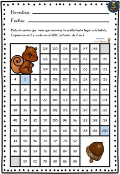 Fichas para trabajar la atención, con las serie de laberintos numéricos. Fichas en formato PDF   Fichas para trabajar la atención. Laberintos numéricos  Descarga el recurso en for… Teaching Spanish, Teaching Math, Teaching Resources, Math For Kids, Fun Math, Maths, Brain Memory, Virtual Class, Language Study