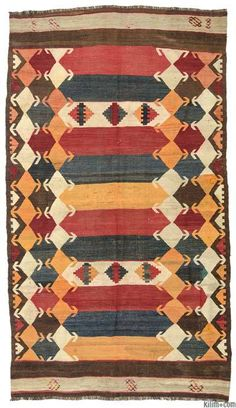 K0009731 Vintage Tajik Kilim Rug | Kilim Rugs, Overdyed Vintage Rugs, Hand-made Turkish Rugs, Patchwork Carpets by Kilim.com