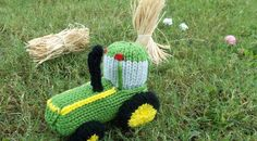 Free Pattern Fridays – Knitted Tractor Toy!