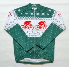 Christmas Cycling Jersey. Can I wear this to an Ugly Sweater Party for cyclist?! :P