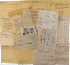 Cast array of artifacts: Consists of over 60 pieces (many original carbon copies), primarily typed police reports and complaints, as well as handwritten notes and some court documents