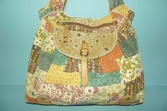 FOSSIL-Multicolored-Floral-Patchwork-Canvas-Tan-Leather-Shoulder-Bag-Satchel