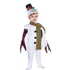 disfraz mueco de nieve con bufanda infantil varias tallas es ideal para nios