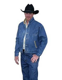 Mens Schaefer Jacket: Mens Schaefer Western Jacket. The first 1940's vintage denim jacket of its kind is made by Schaefer Ranchwear. The distinctive smile pocket front marks the beginning of modern western fashion, as we know it. Schaefer's Chisholm jacket tailored with front retro...  More details at https://jackets-lovers.bestselleroutlets.com/mens-jackets-coats/lightweight-jackets/denim/product-review-for-schaefer-western-jacket-mens-classic-vintage-denim-chish