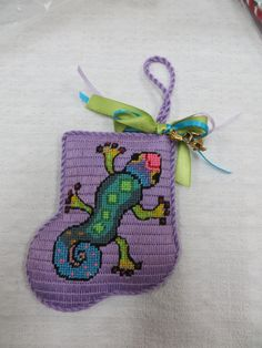 Gecko minisock with charm