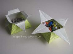 Completed Origami Star Boxes