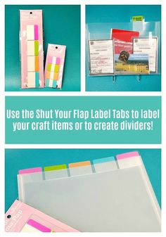 17 Best How to use Label Tabs to organize your craft room