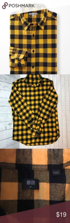 UNIQLO Checkered black and yellow flannel shirt UNIQLO Checkered black and yellow flannel shirt Size M 20 inches from armpit to armpit inches from shoulder to bottom Breast pocket Button up cotton Uniqlo Shirts Casual Button Down Shirts Yellow Flannel Shirt, Casual Button Down Shirts, Casual Shirts, Nice Dresses, Casual Dresses, Black N Yellow, Uniqlo, New Fashion, Flannels