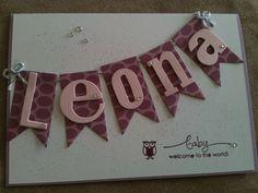 Babykarte für ein Mädchen