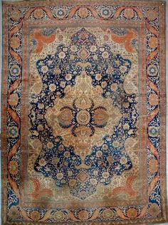 Persian Tabriz rug, Hadji Djalili workshop,  19th c.