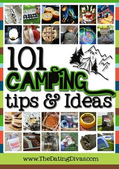 The ULTIMATE Camping Guide.  Just wait until you see the yummy recipes, clever organization, handy apps, fun activities, genius tips, and must-have gadgets. www.TheDatingDivas.com #camping #campingrecipes #campingtips
